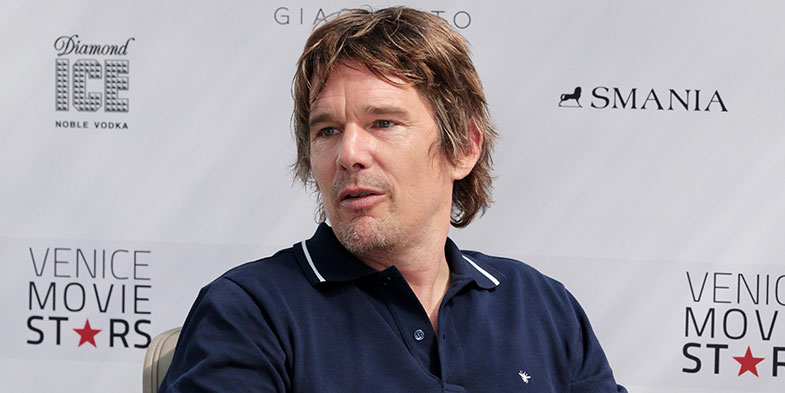 Smania and Ethan Hawke at the Venice film festival