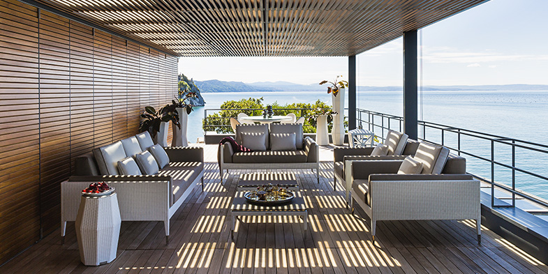 furnish a seaside home with Smania furnishings for outdoor