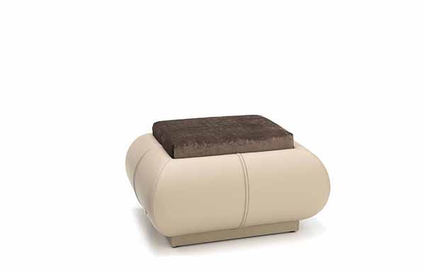 Dalton pouf - Smania leather furniture upholstery