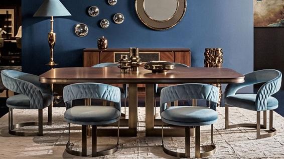 Smania classic decor dining room